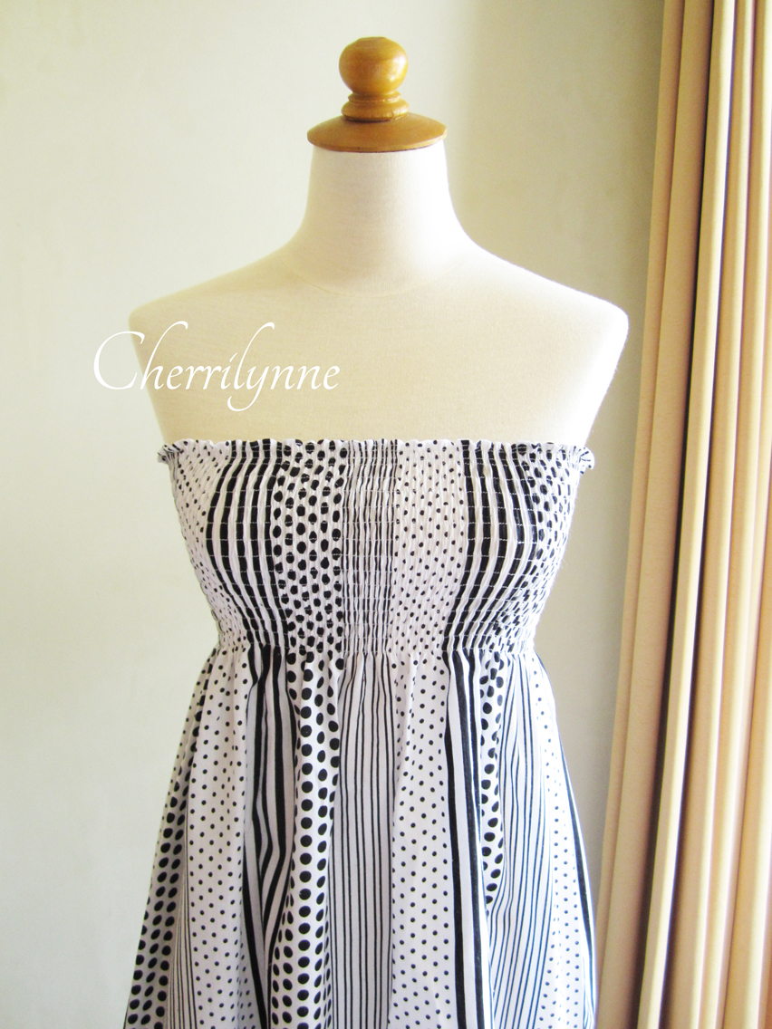 Summer Dress - Strapless Smocked Cotton Tube Dress ... - photo#9